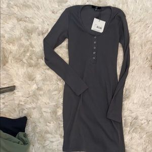 MISSGUIDED Henley mini dress sz 2